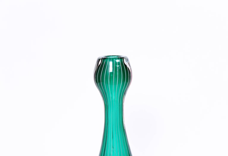 Midcentury Swedish Glass Vase, 1950s In Excellent Condition For Sale In Malmo, SE