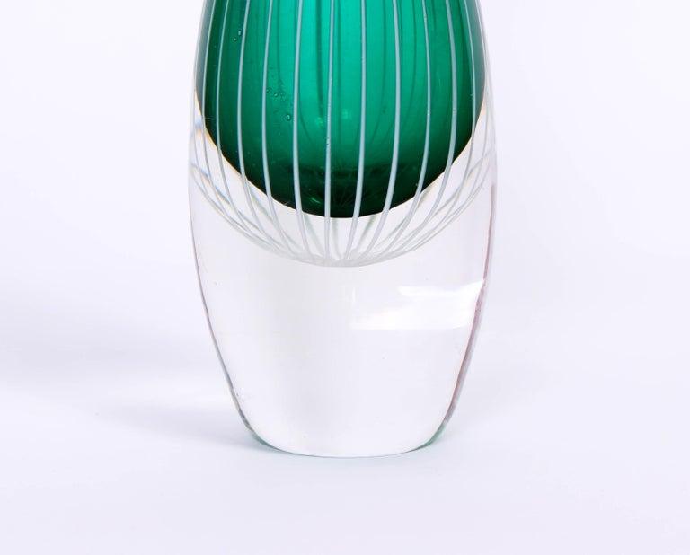 Mid-20th Century Midcentury Swedish Glass Vase, 1950s For Sale