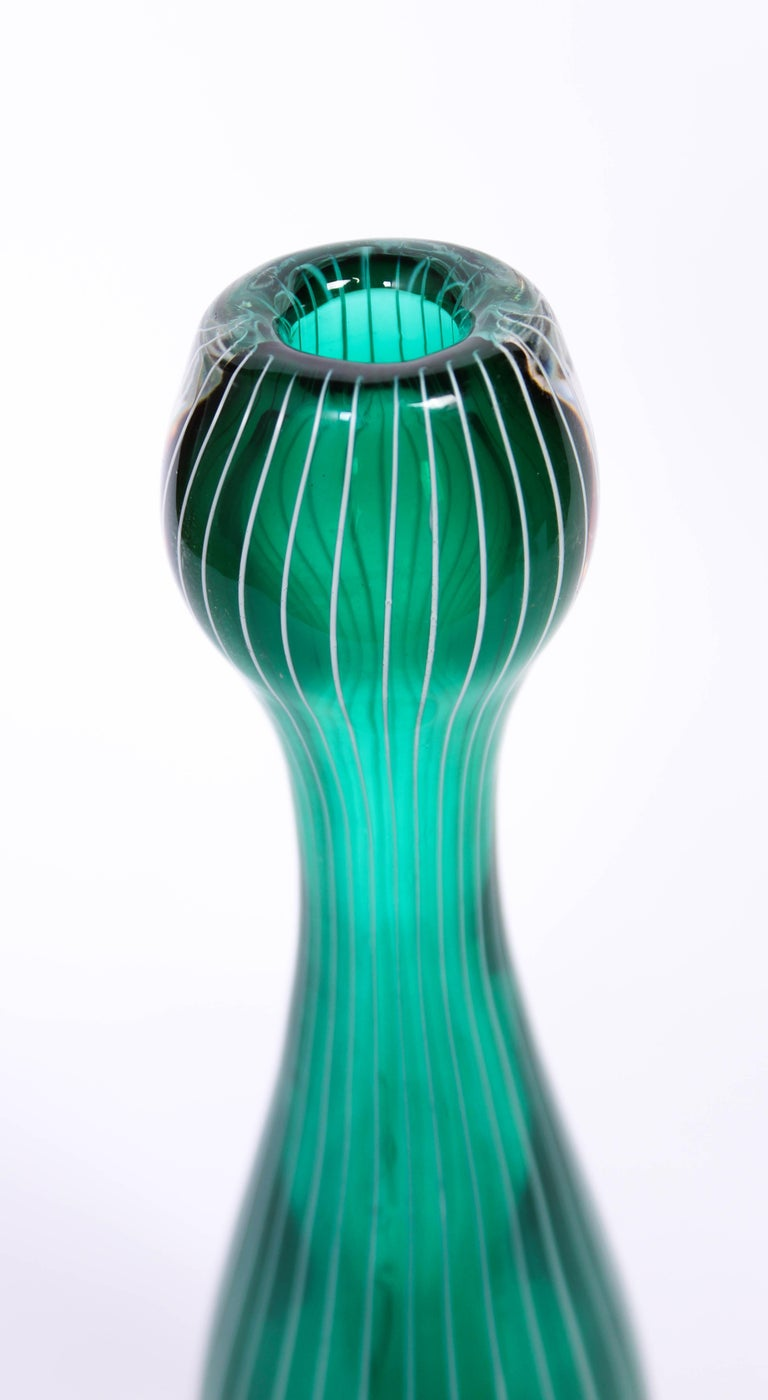 Midcentury Swedish Glass Vase, 1950s For Sale 2