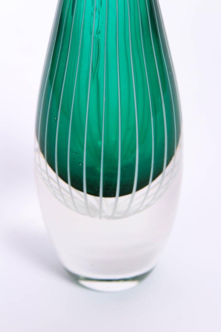 Midcentury Swedish Glass Vase, 1950s For Sale 3