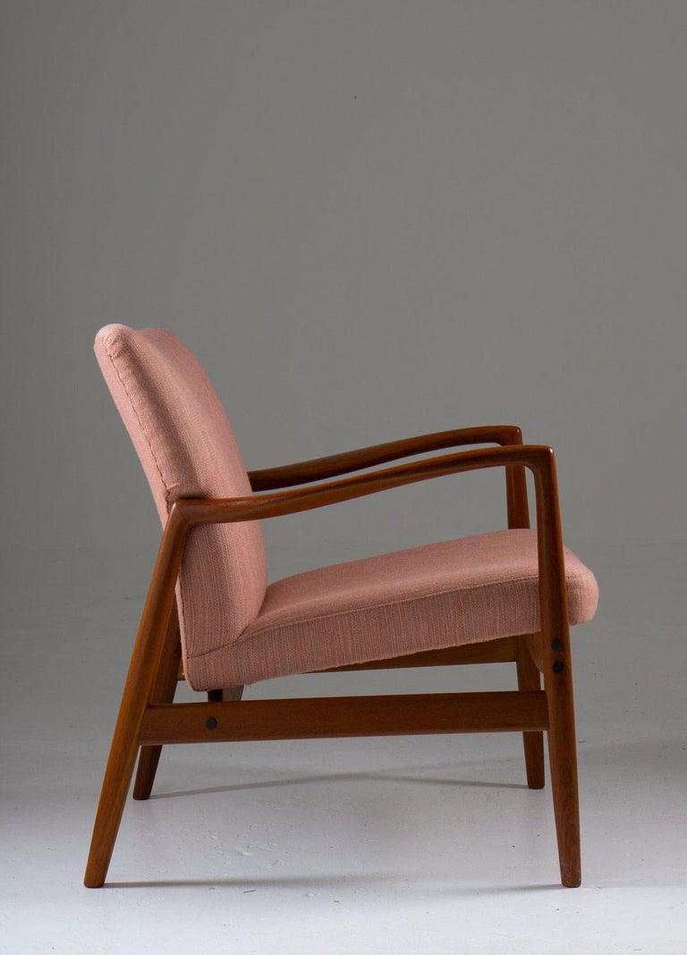 Scandinavian Modern Midcentury Swedish Lounge Chair by Bertil Fridhagen for Bodafors For Sale