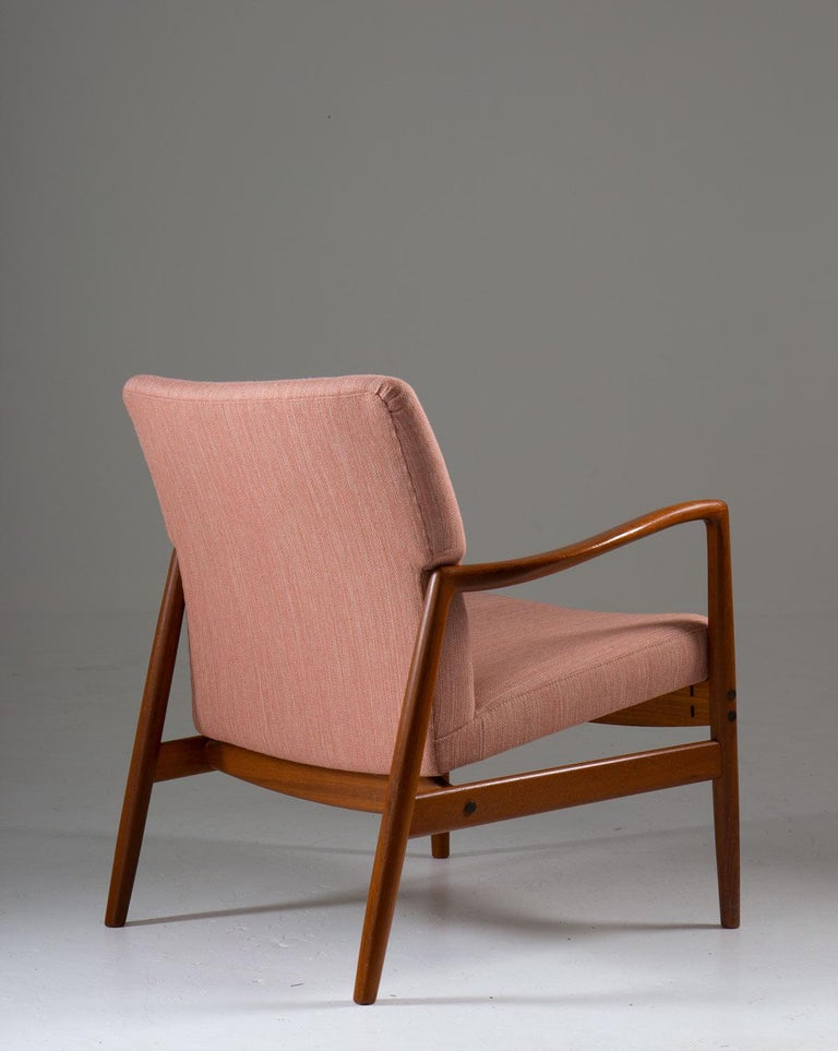 Midcentury Swedish Lounge Chair by Bertil Fridhagen for Bodafors In Good Condition For Sale In Karlstad, SE
