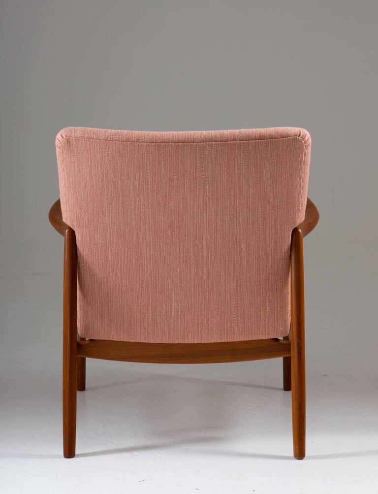20th Century Midcentury Swedish Lounge Chair by Bertil Fridhagen for Bodafors For Sale