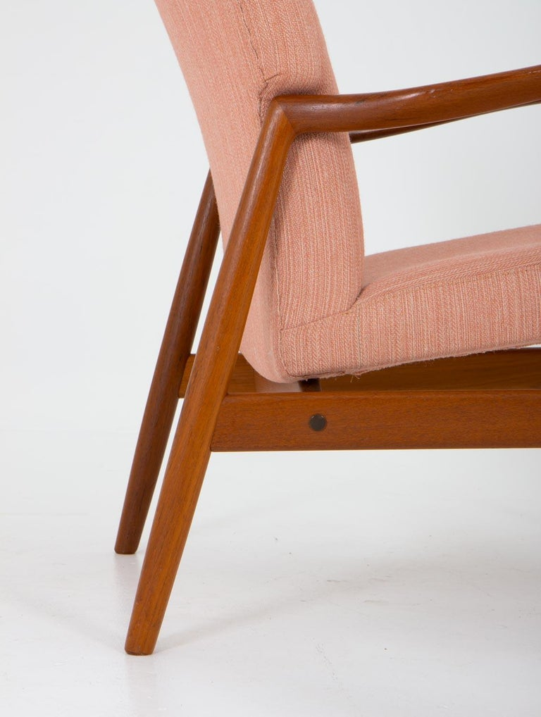 Wool Midcentury Swedish Lounge Chair by Bertil Fridhagen for Bodafors For Sale