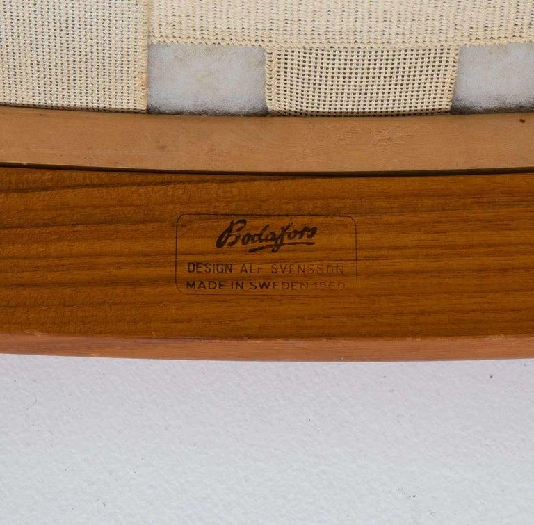 Midcentury Swedish Lounge Chair by Bertil Fridhagen for Bodafors For Sale 3