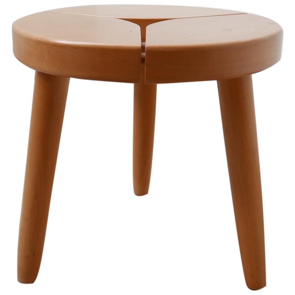 Midcentury Swedish Pine Stool or Side Table
