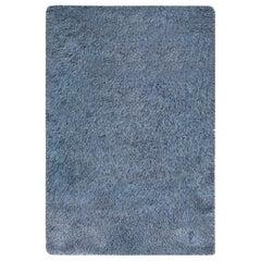 Midcentury Swedish Rya Blue Rug