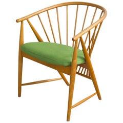 Jahrhundertmitte Schwedischer Sonnen Feder Sessel von Sonna Rosén für Nässjö Stolfabrik