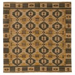 Midcentury Swedish Tapestry Weave by Märta Mass-Fjetterström 'Gront Pa Linne'