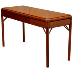 Midcentury Swedish Teak Console Table or Desk, 1950s