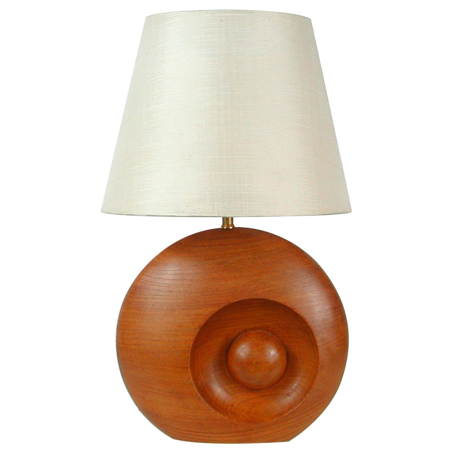 Midcentury Swedish Teak Table Lamp, 1960s