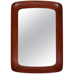 Midcentury Swedish Walnut Mirror from Atelje G&T, 1960s