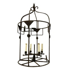 Midcentury Swedish Wrought Iron Lantern