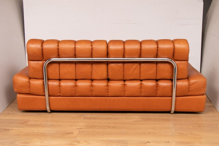 Late 20th Century Midcentury Swiss De Sede DS 85 Sofa Bed For Sale