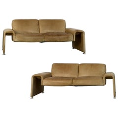 1970s Swiss Leather Sofas, a Pair