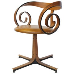 Midcentury Swivel Desk Chair by George Mulhauser