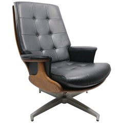 Mid Century Swivel Tilt Lounge Chair by Heywood Wakefield