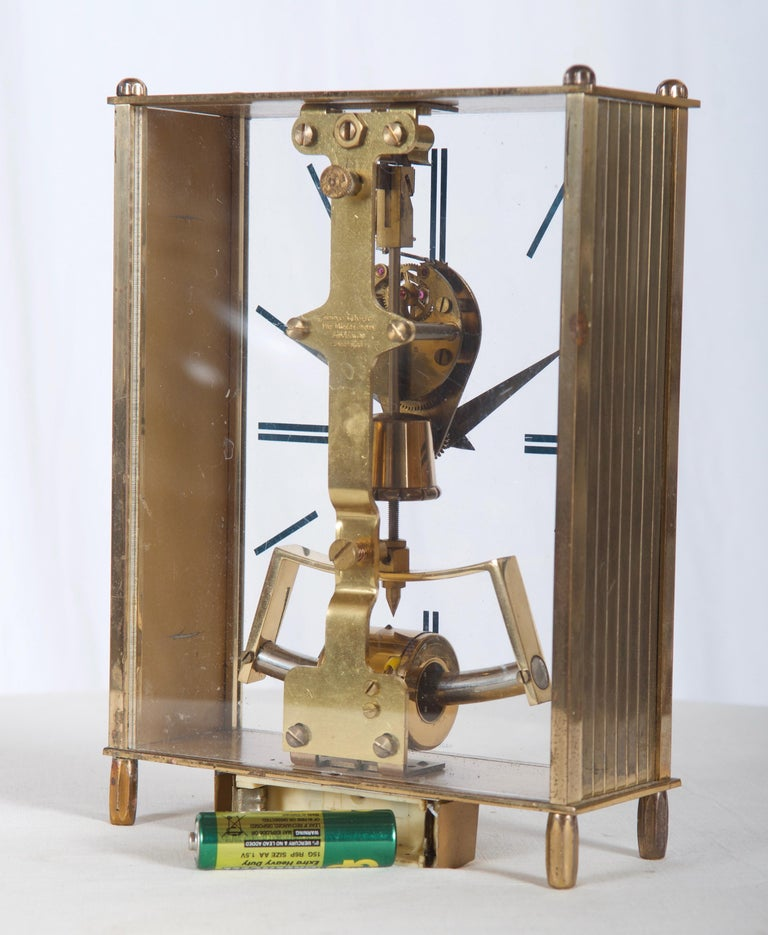 Brass construction with a battery movement. Made by Kundo in Japan in the 1960s.