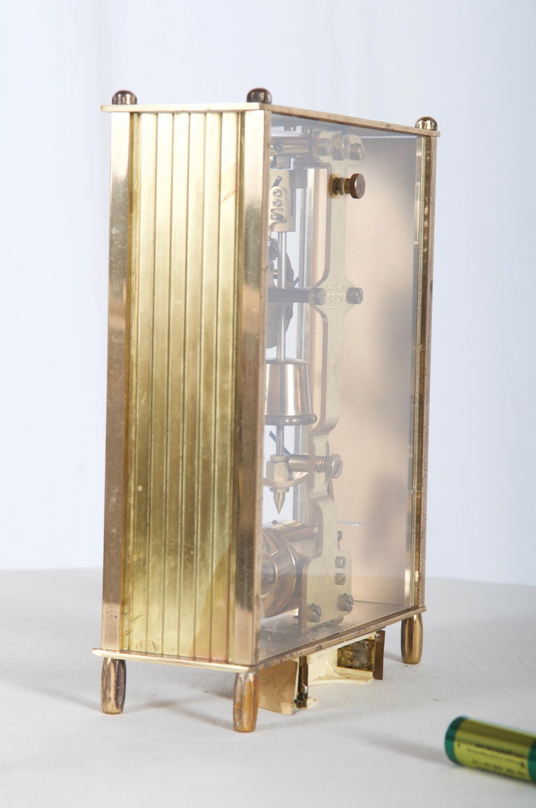 Brass Midcentury Table Clock by Kundo, Japan For Sale