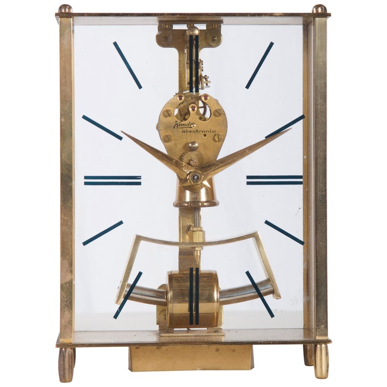 Midcentury Table Clock by Kundo, Japan For Sale