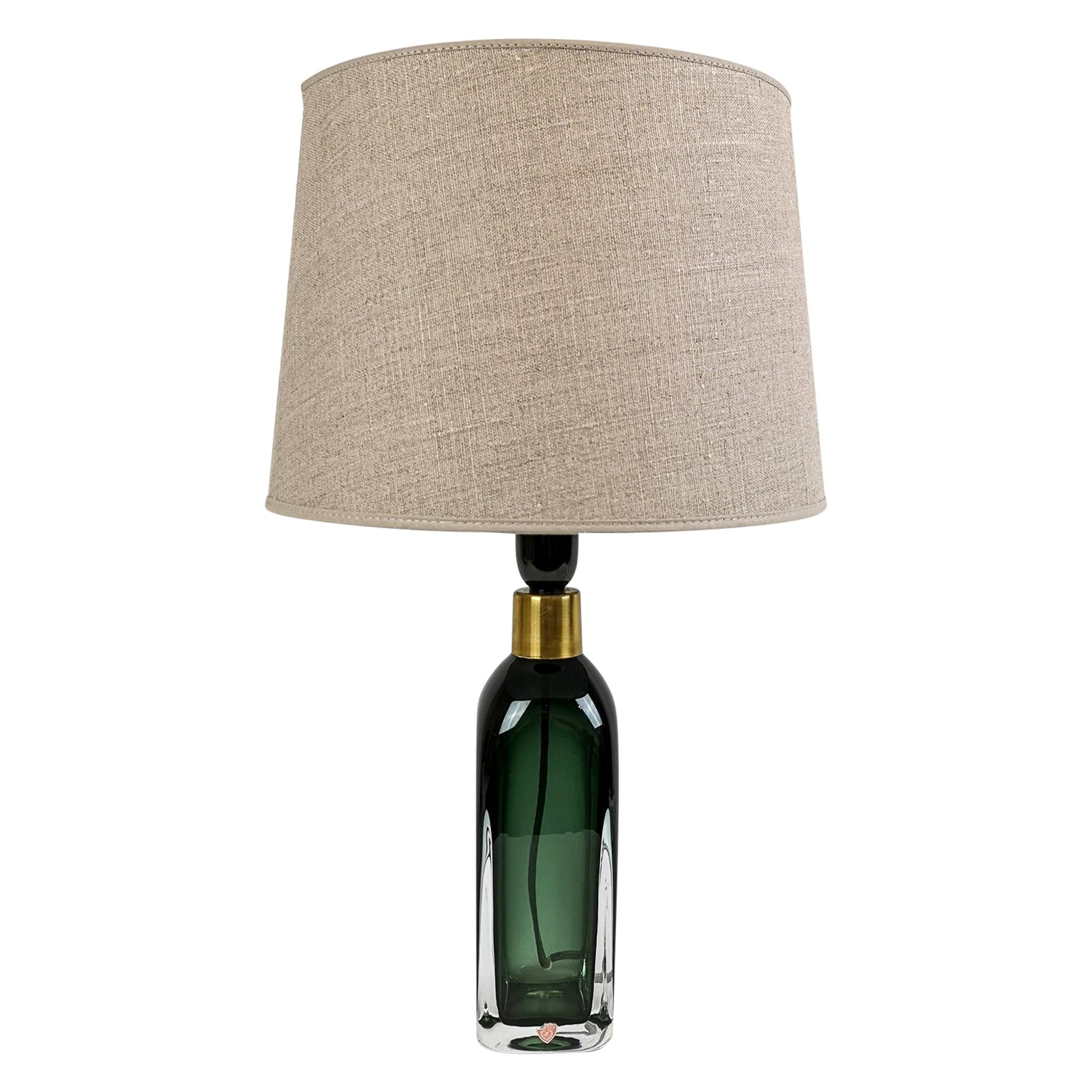 Midcentury Table Lamp by Carl Fagerlund for Orrefors Sweden RD 1406