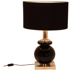 Midcentury Table Lamp Designed by Willy Rizzo, 1970s for Lumica, Spain, Brass