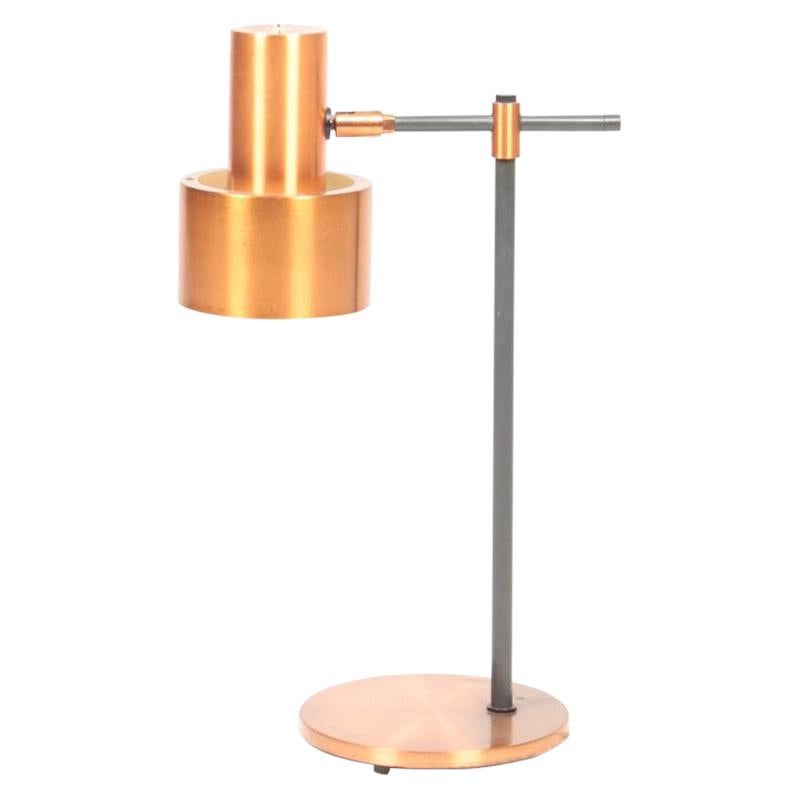 Midcentury Table Lamp in Copper Designed by Jo Hammerborg, 1960s