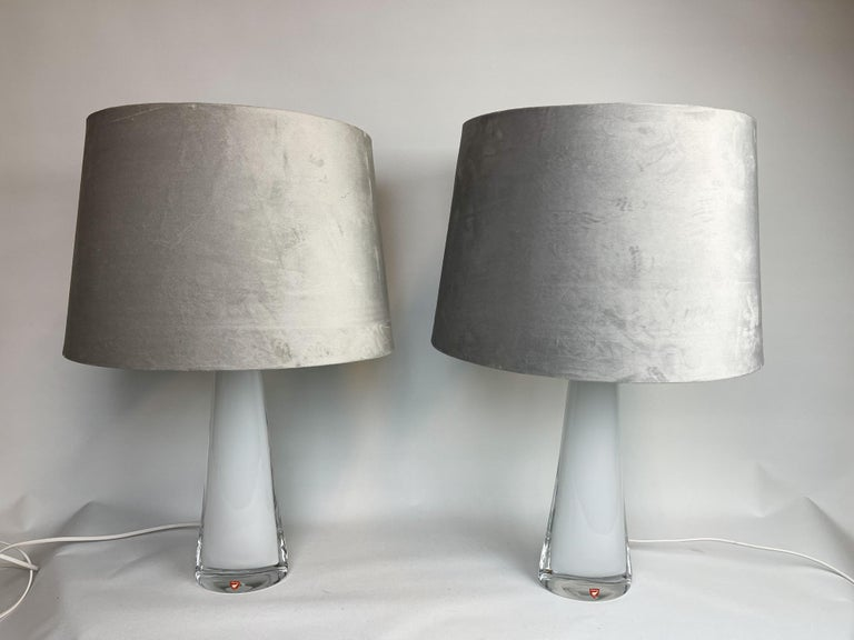 Mid-Century Modern Midcentury Table Lamps by Carl Fagerlund for Orrefors Sweden RD, 1566 For Sale