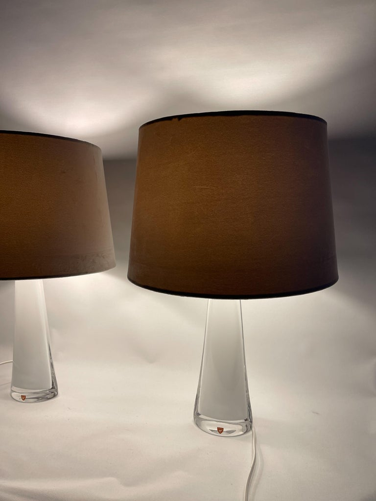 Mid-20th Century Midcentury Table Lamps by Carl Fagerlund for Orrefors Sweden RD, 1566 For Sale