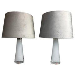 Midcentury Table Lamps by Carl Fagerlund for Orrefors Sweden RD, 1566