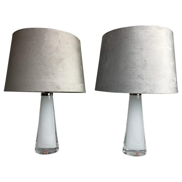 Midcentury Table Lamps by Carl Fagerlund for Orrefors Sweden RD, 1566 For Sale
