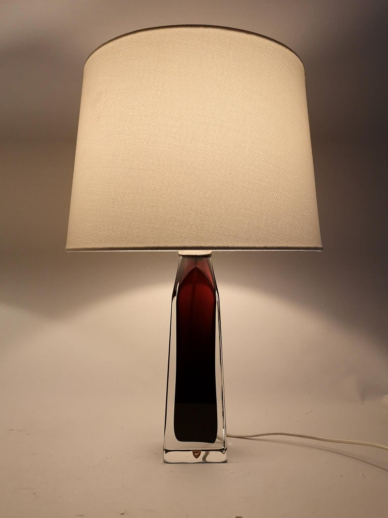 Mid-20th Century Midcentury Table Lamps by Carl Fagerlund for Orrefors Sweden RD 1884 For Sale