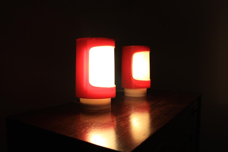 Late 20th Century Midcentury Table Lamps Cosmonaut, 1970s For Sale