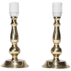 Midcentury Table Lamps from Sweden in Brass