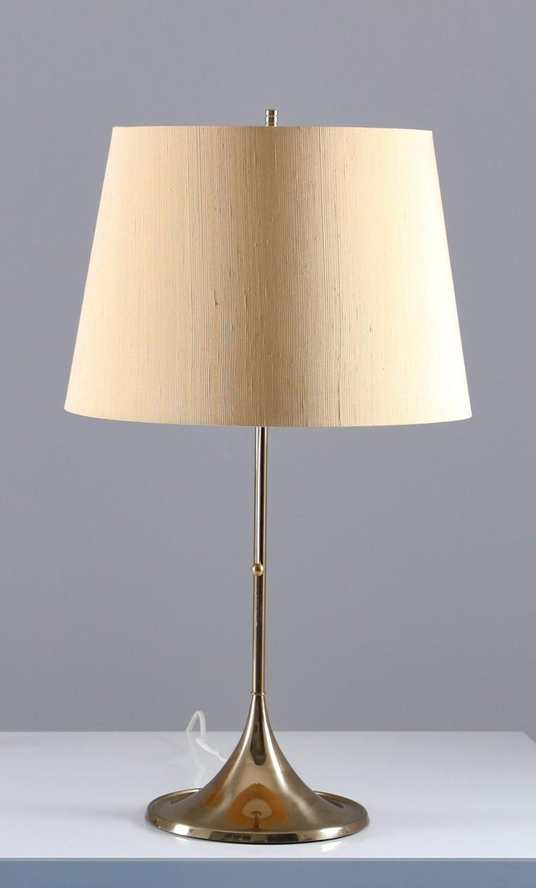 Midcentury table lamps in brass model B-024 by Alf Svensson and Yngvar Sandström for Bergboms, Sweden