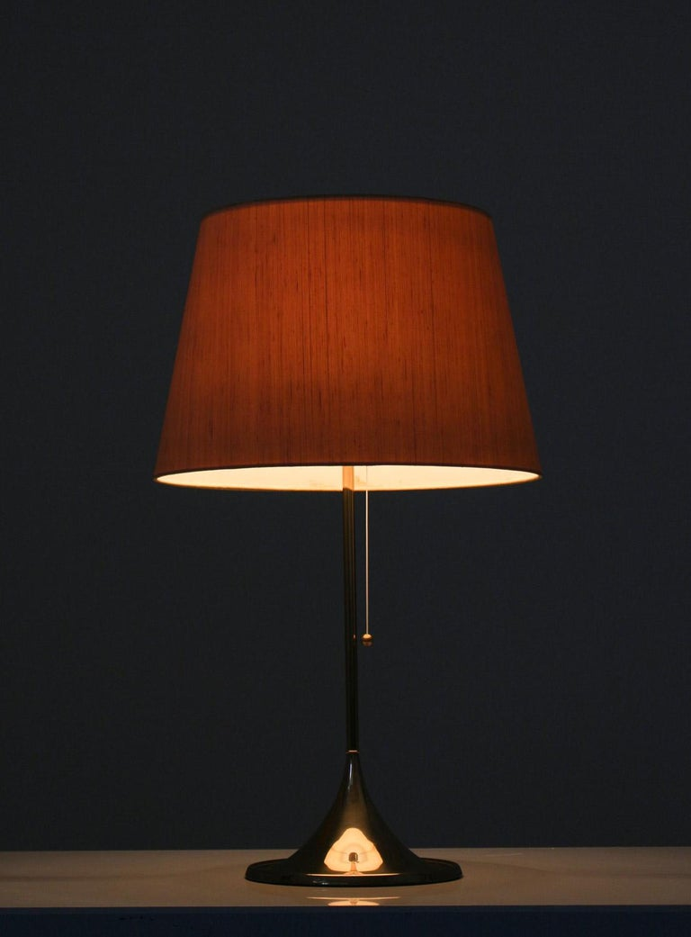 Mid-Century Modern Midcentury Table Lamps in Brass by A. Svensson and Y. Sandström for Bergboms For Sale