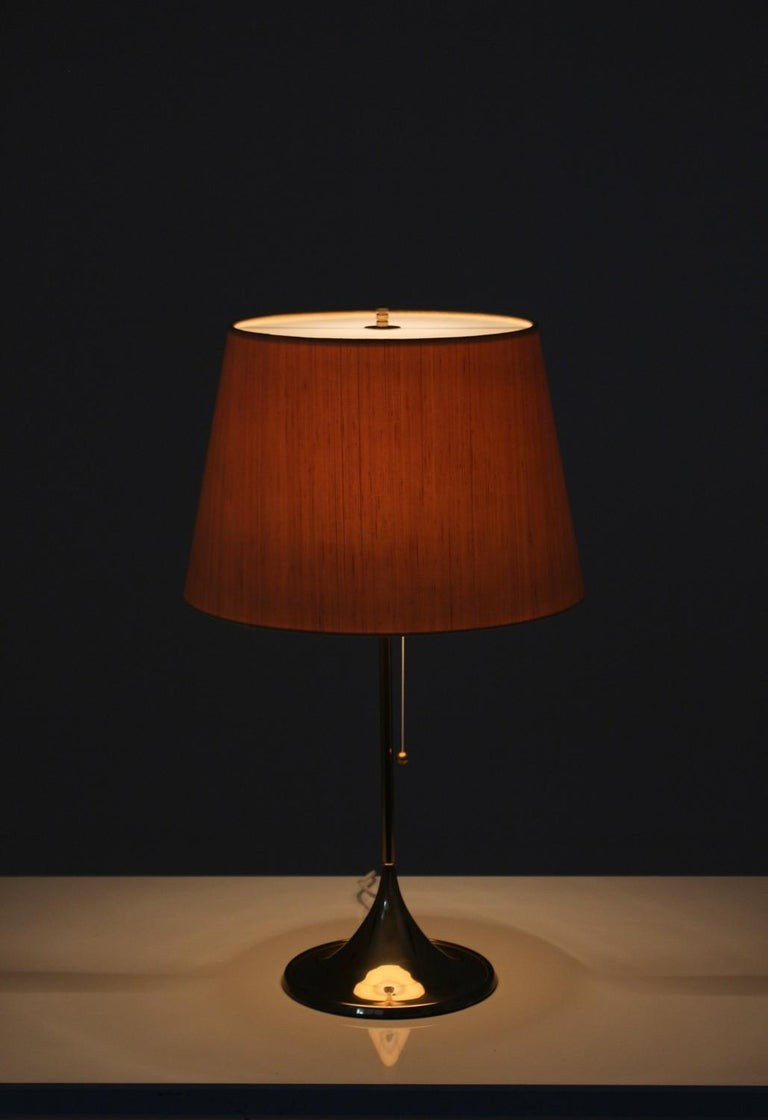 Swedish Midcentury Table Lamps in Brass by A. Svensson and Y. Sandström for Bergboms For Sale