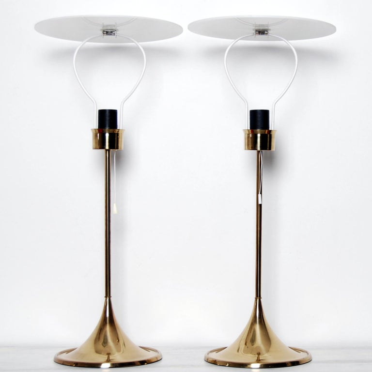 Swedish Midcentury Table Lamps in Brass by Bergboms, Sweden, 1960s For Sale