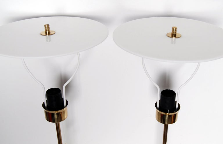 Midcentury Table Lamps in Brass by Bergboms, Sweden, 1960s In Good Condition For Sale In Stockholm, SE