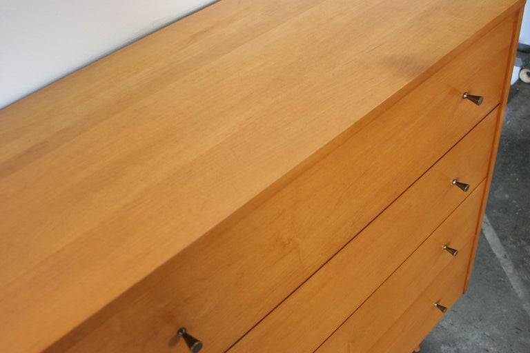 Mid-Century Modern Midcentury Tall Dresser by Paul McCobb circa 1950 Planner Group #1501 Blonde For Sale
