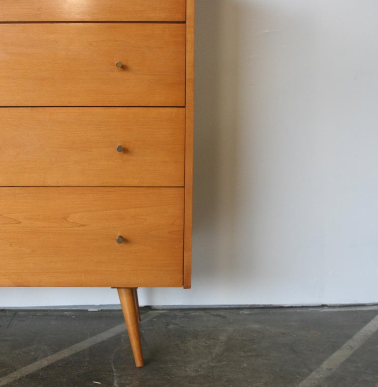 20th Century Midcentury Tall Dresser by Paul McCobb circa 1950 Planner Group #1501 Blonde For Sale