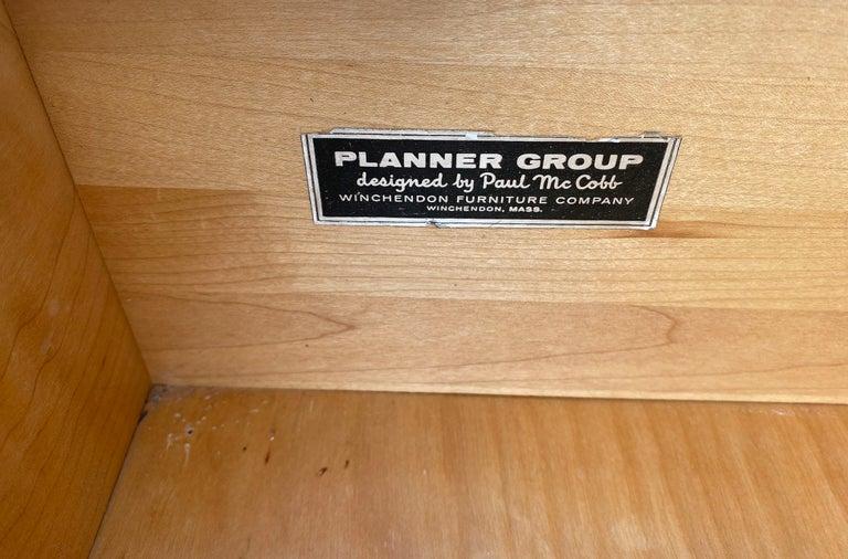 Midcentury Tall Dresser by Paul McCobb Planner Group #1501 Maple Brass Knobs 3