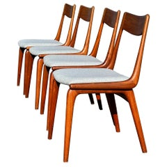Midcentury Teak Boomerang Chairs #370 by E. Christensen for Slagelse, Set of 4