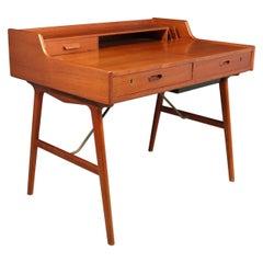 Midcentury Teak Desk by Arne Wahl Iverson, Model 65