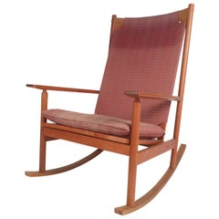 Midcentury Teak Dux Rocking Chair by Hans Olsen