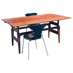 Midcentury Teak Extendable Drop-Leaf Copenhagen Dining Table