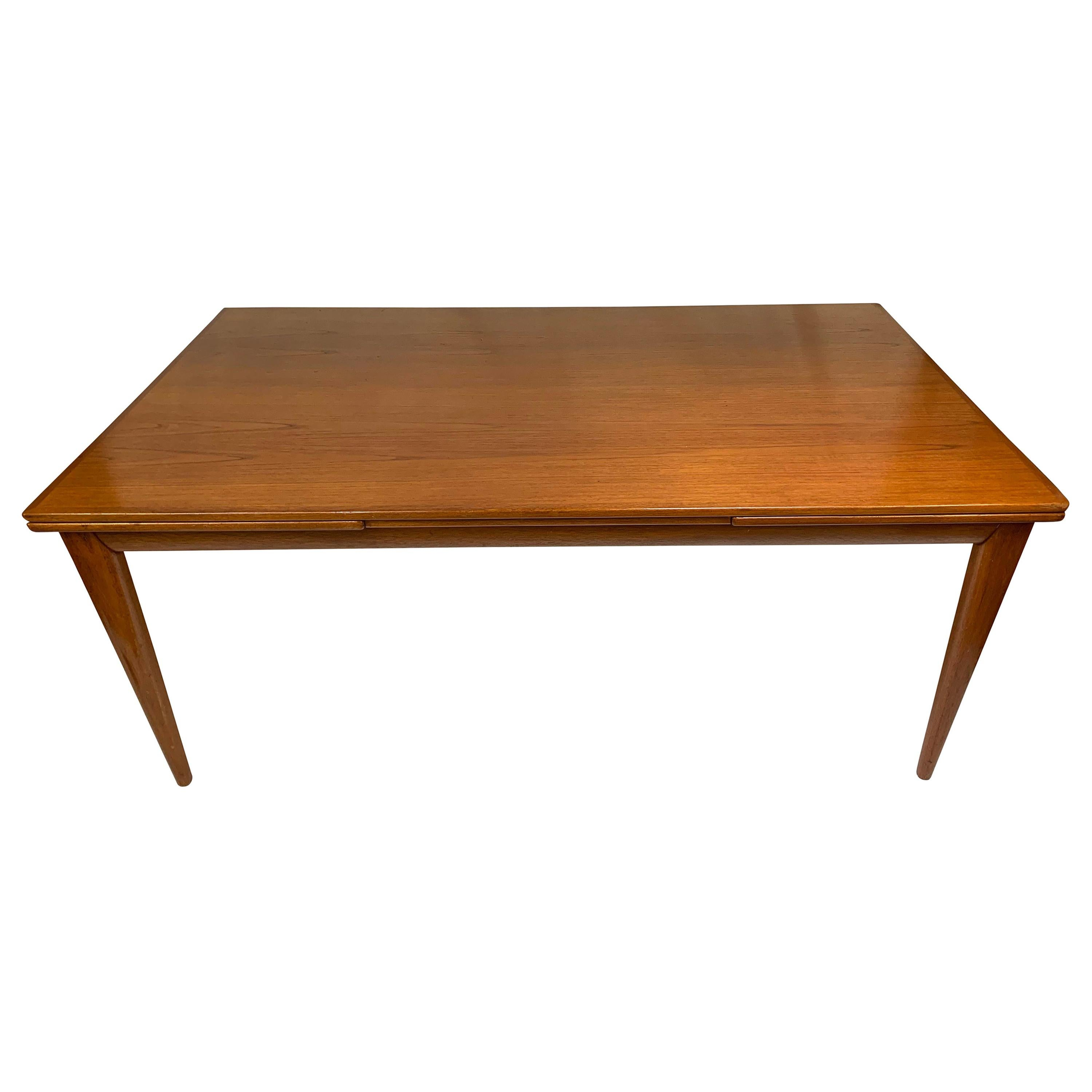 Midcentury Teak Extension Dining Table by Niels Otto Møller