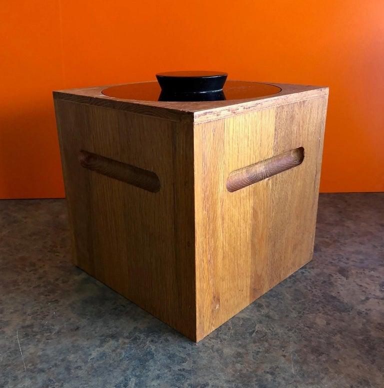 Mid-Century Modern Midcentury Teak Ice Bucket by Morgan Designs For Sale