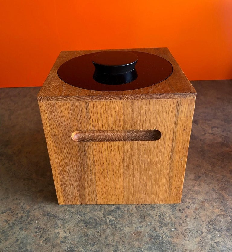 American Midcentury Teak Ice Bucket by Morgan Designs For Sale