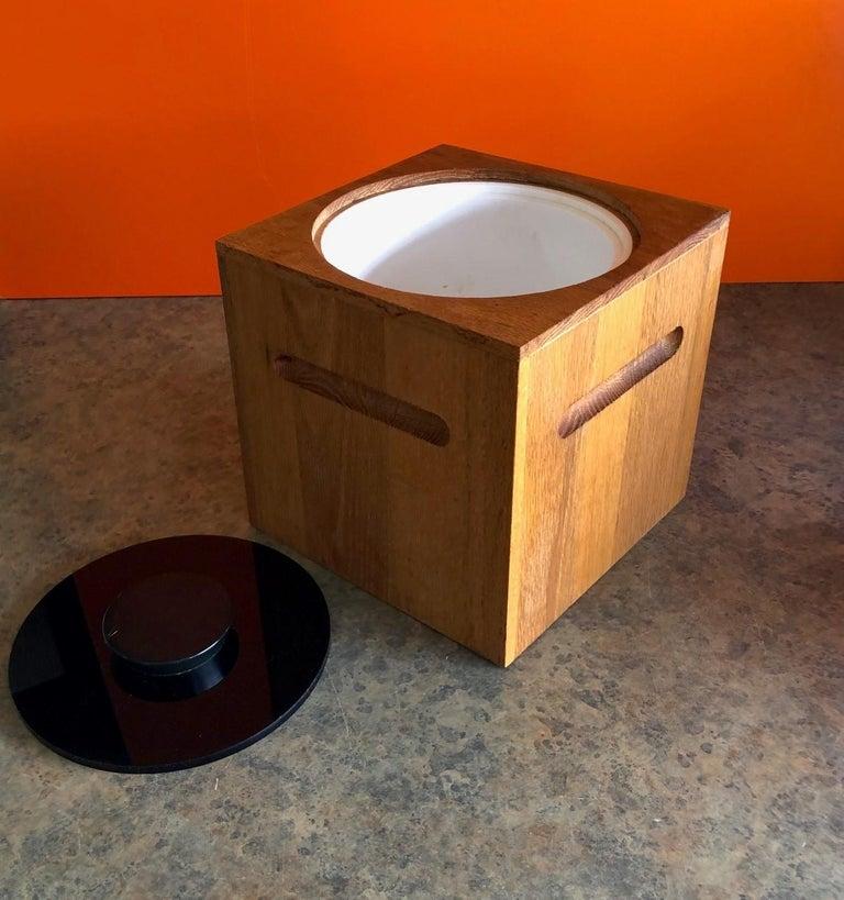 20th Century Midcentury Teak Ice Bucket by Morgan Designs For Sale